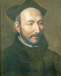 Portrait of St. Ignatius, by Jacopino del Conte